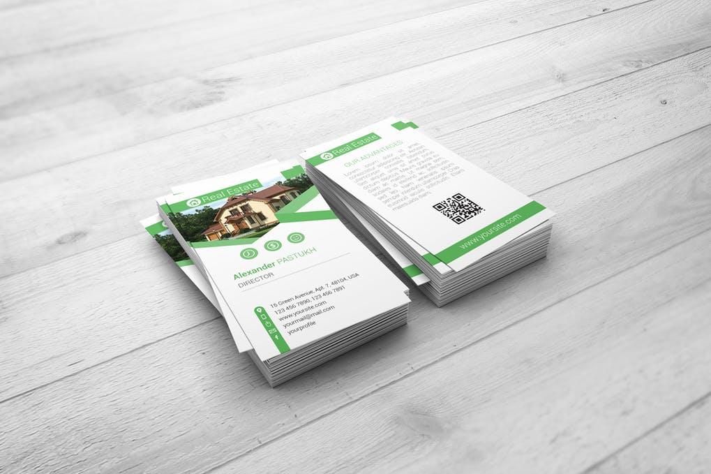 Vertical Business Card Mock-Up
