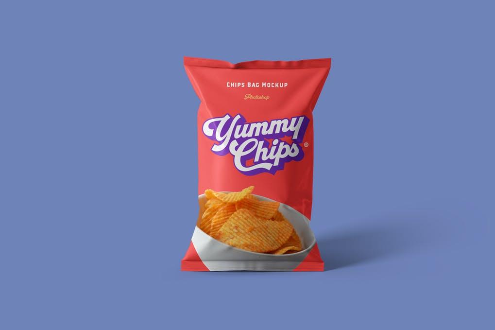 Food Chips Bag Mockups