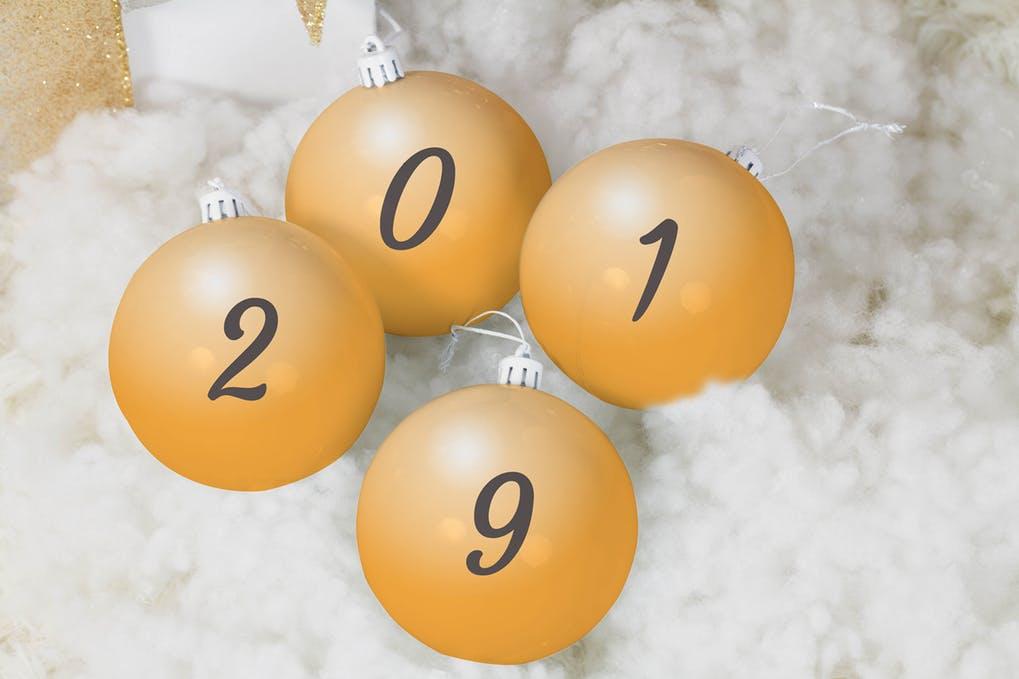 Christmas Balls Mock Up