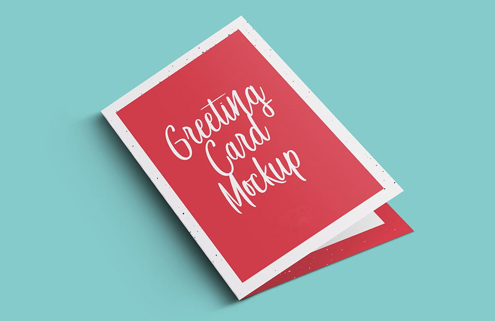 Greeting Card Mockup PSD Templates