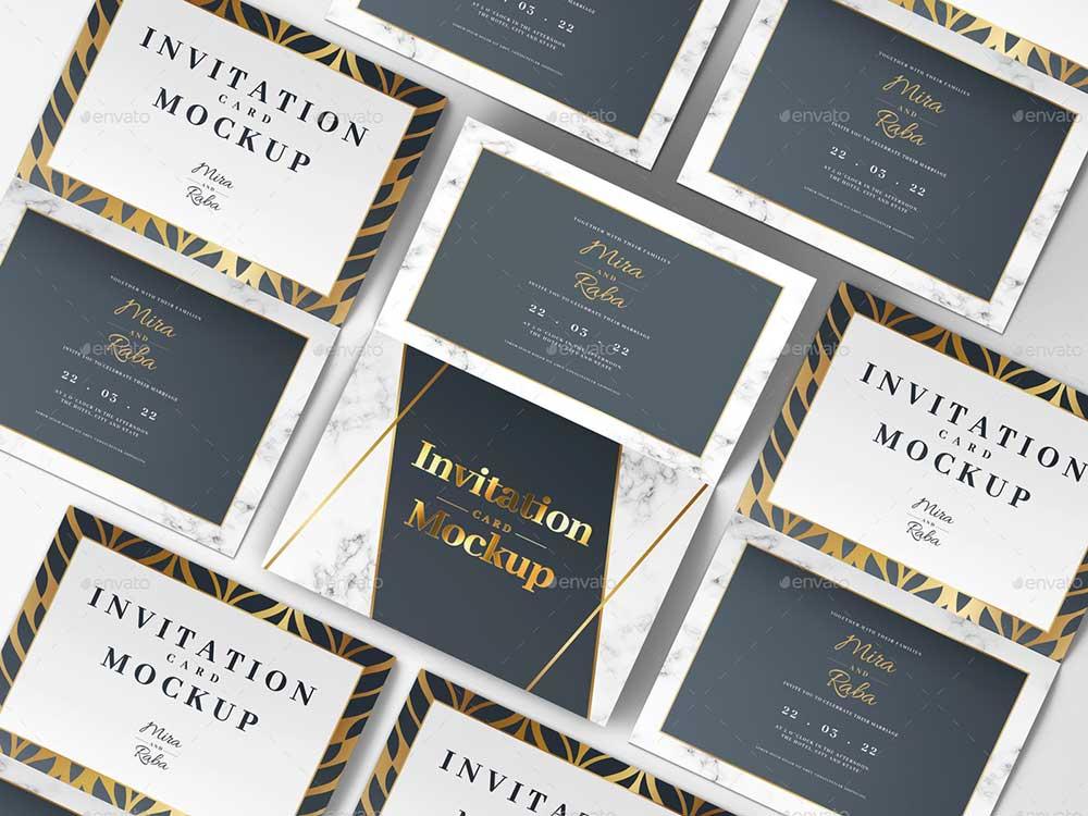 Greeting, Invitation Card Mockup
