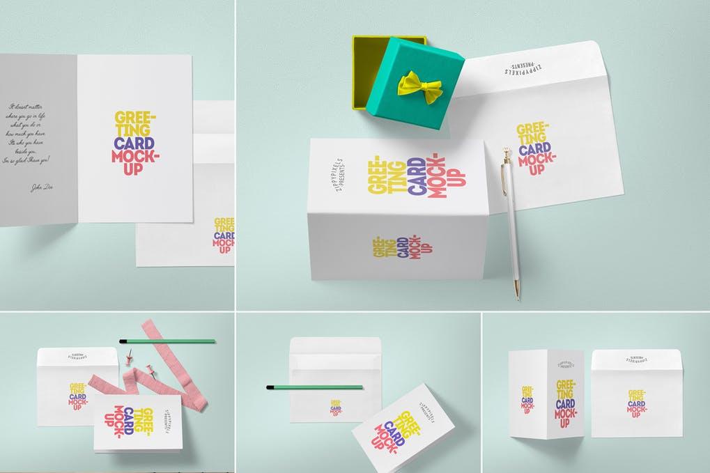 20 Beautiful Greeting Card Mockup Psd Templates Mockuptree