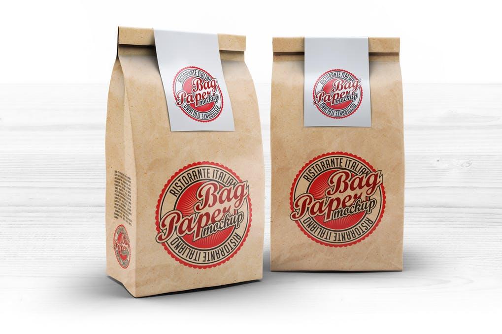 Food Paper Bag Mock-Up