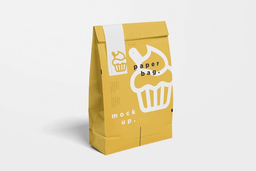 Food Paper Bag MockUps