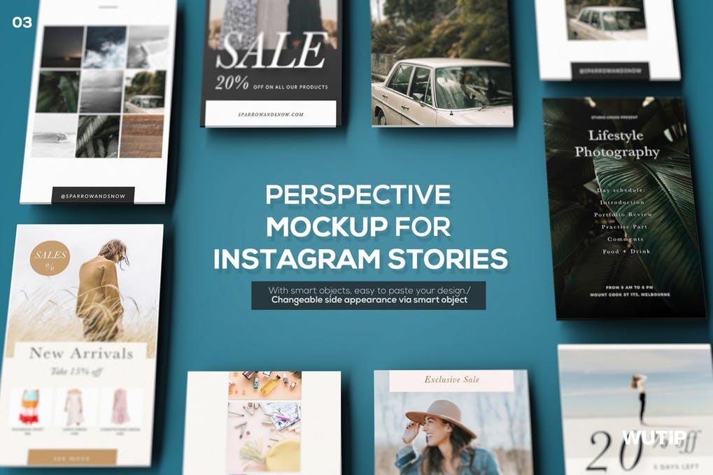 Perspective Mockup for Instagram Stories