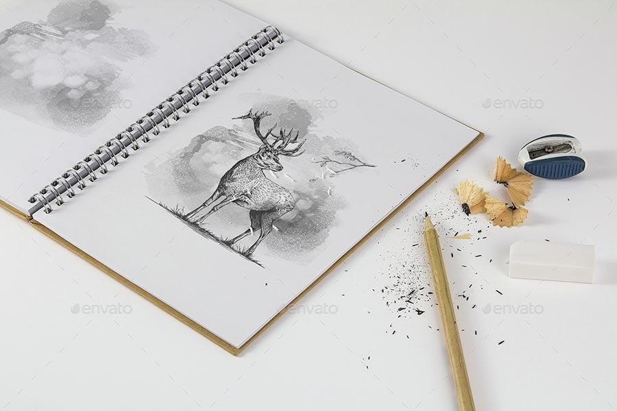 Sketchbook Mockup & Sketch Actions