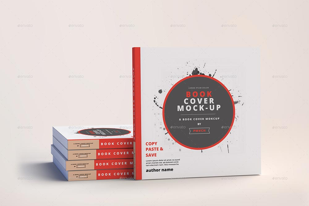 Softcover Square Book Mockups