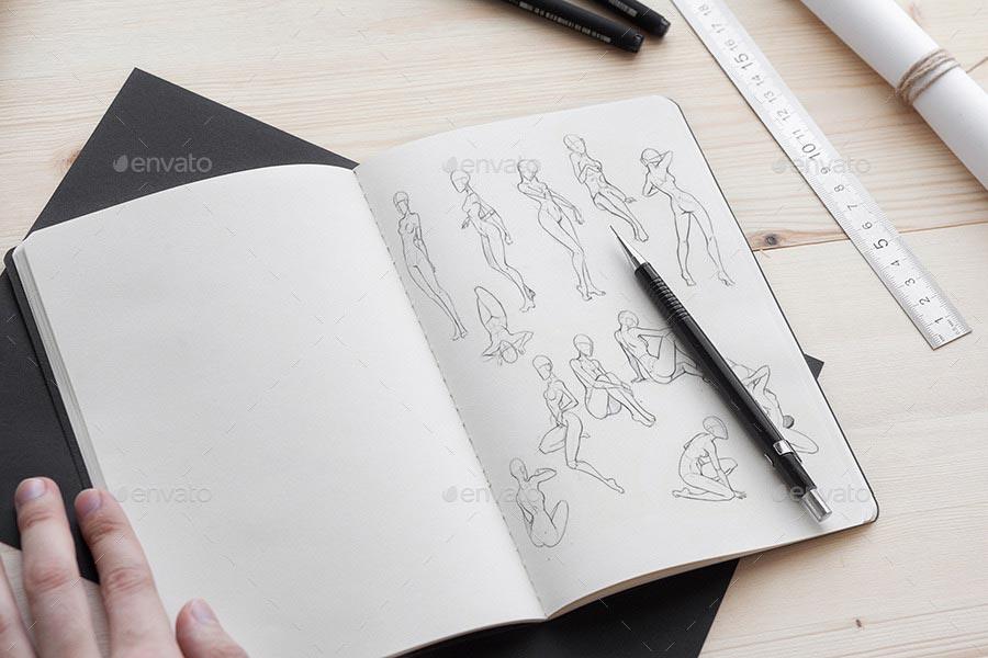 Stylish and Organic Sketch Mock-Up