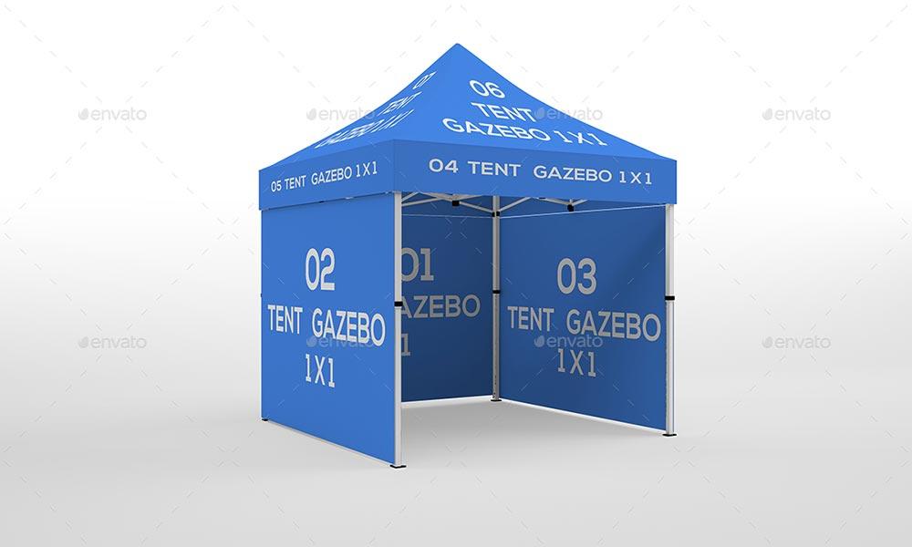 Tente Gazebo Mockup