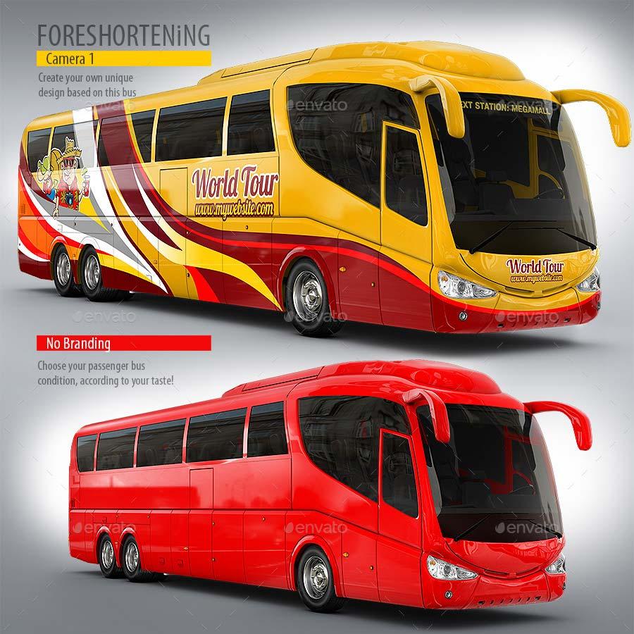 Tourist Bus, Passenger Coach Mock-Up