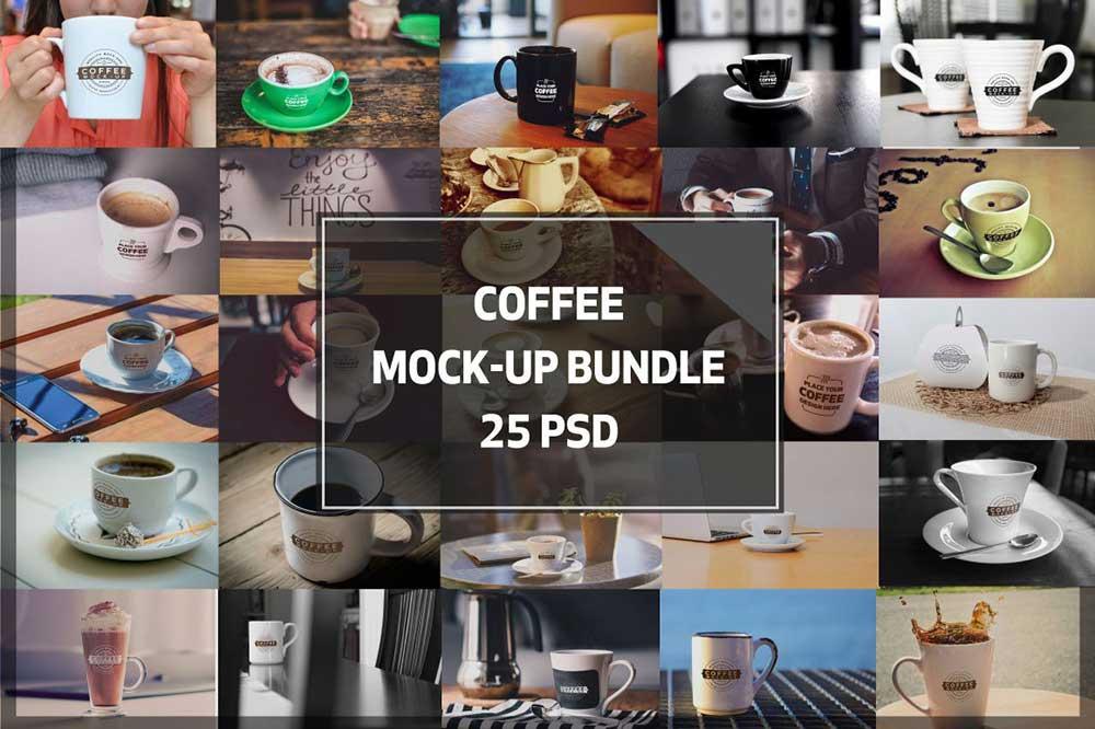 Coffee Shop Mock-ups BUNDLE