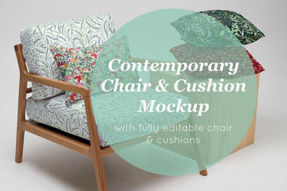 Chair & Cushion Stack Mockup