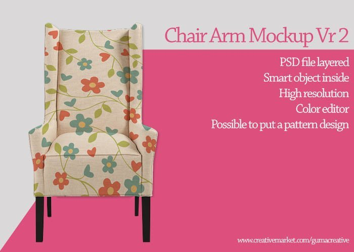 Chair arm mockup