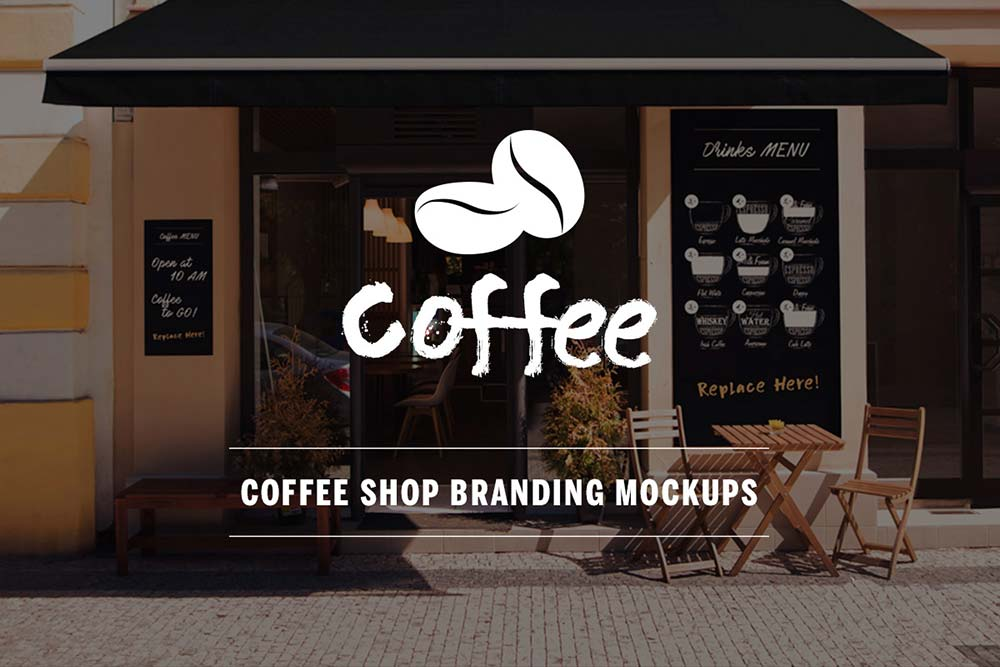 Coffee Shop Mockup PSD Templates