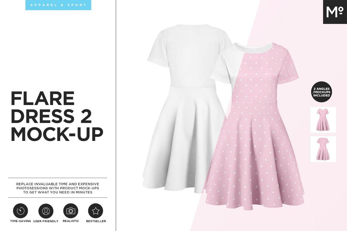Flare Dress 2 Mock-up