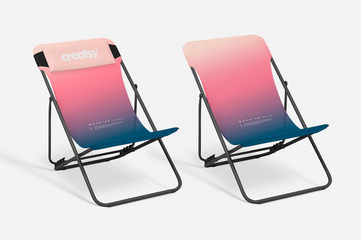 Folding Beach Chair Mockup