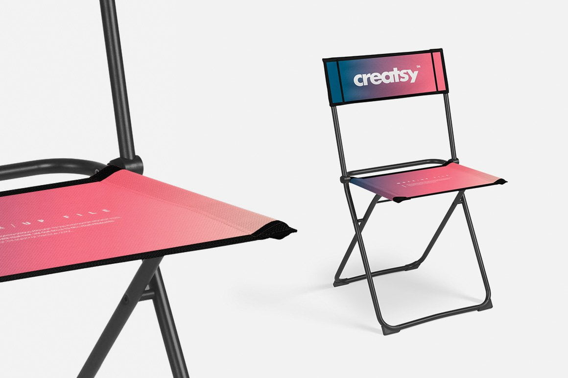 Folding Chair 2 Types Mockup Set