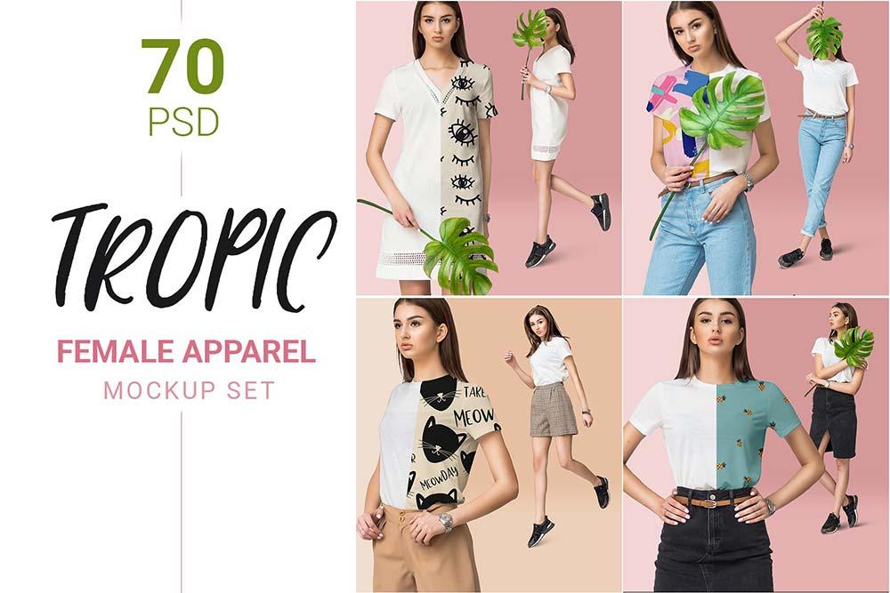 Dress Fashion Mockup Bundle