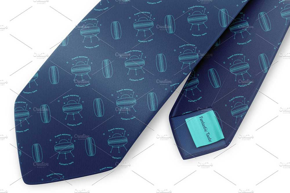 Silk tie Mockup