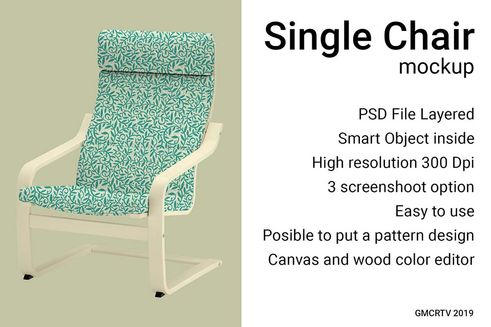 Single Chair mockup