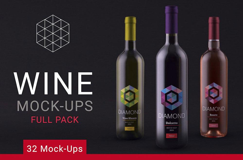 Wine Mock up Full Pack