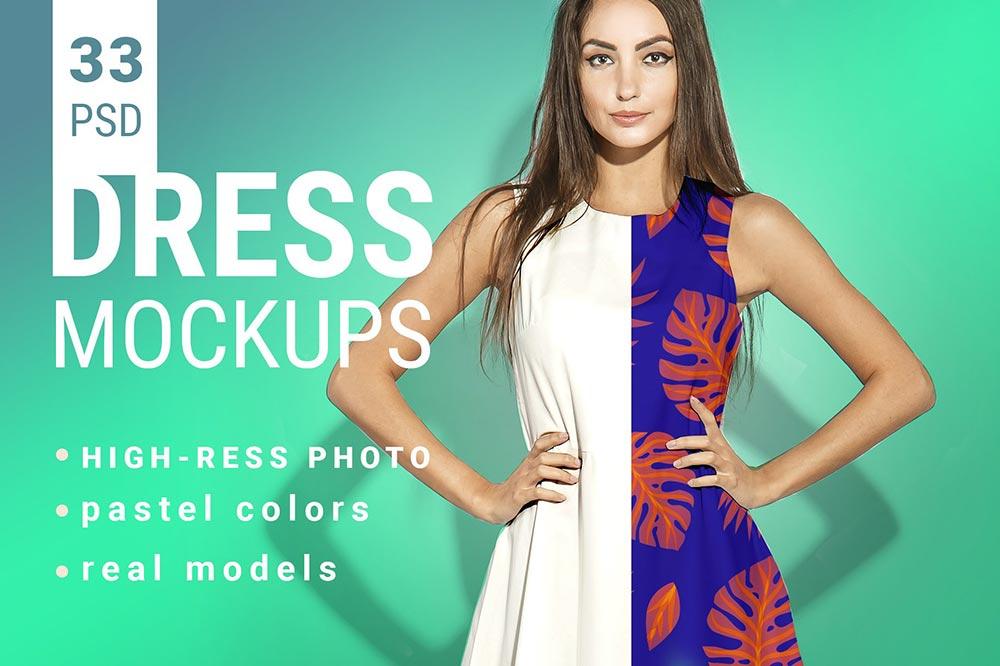 Women's Dress Mockup Set