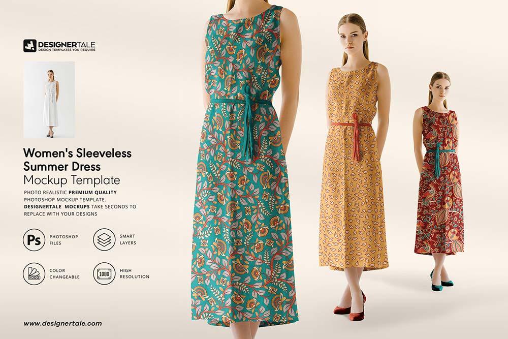 Women's Sleeveless Dress Mockup