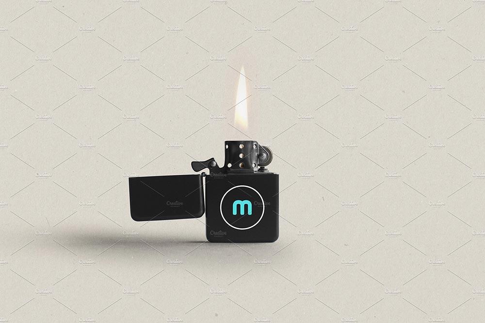 Zippo Flip Lighter Mockup