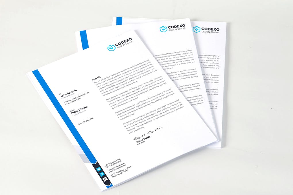 A4 Letterhead Mock Up