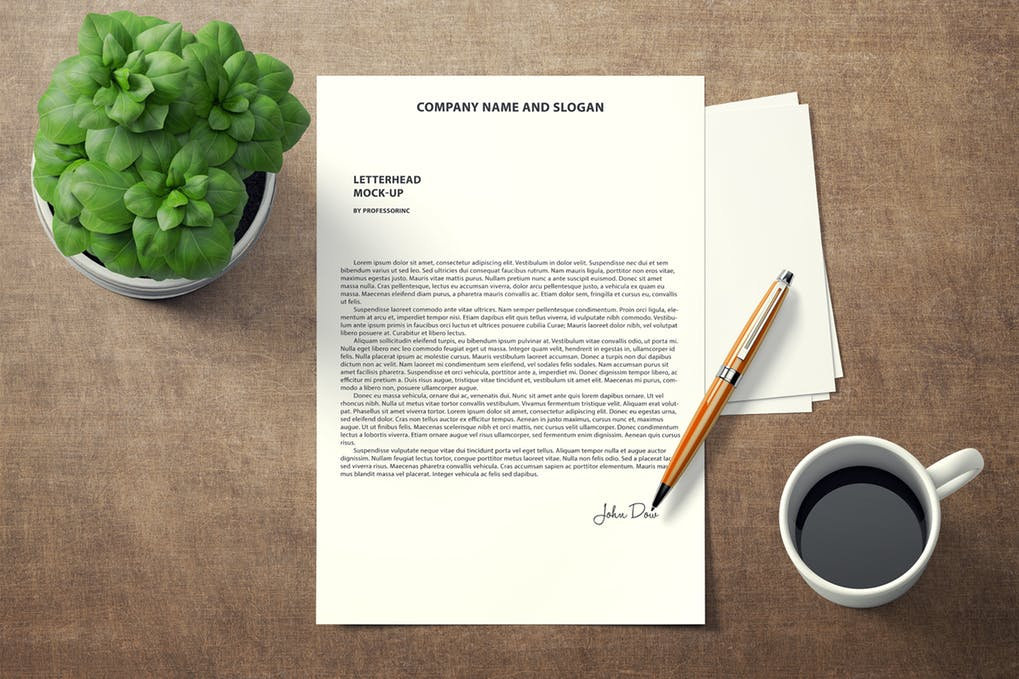 A4 Letterhead Mock-Up