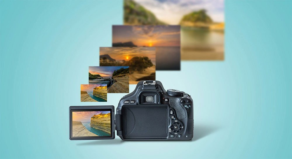 Camera Mockup PSD Templates