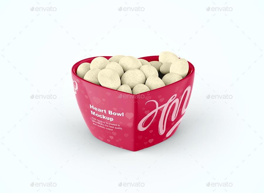 Heart Bowl Mockup