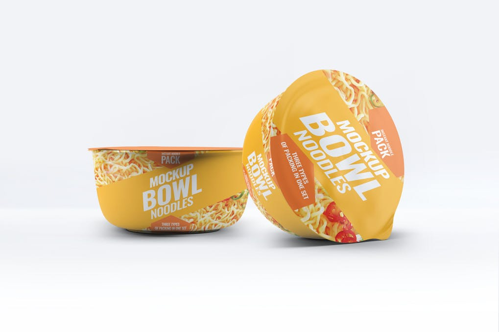 Instant Food Bowl Mock-Up