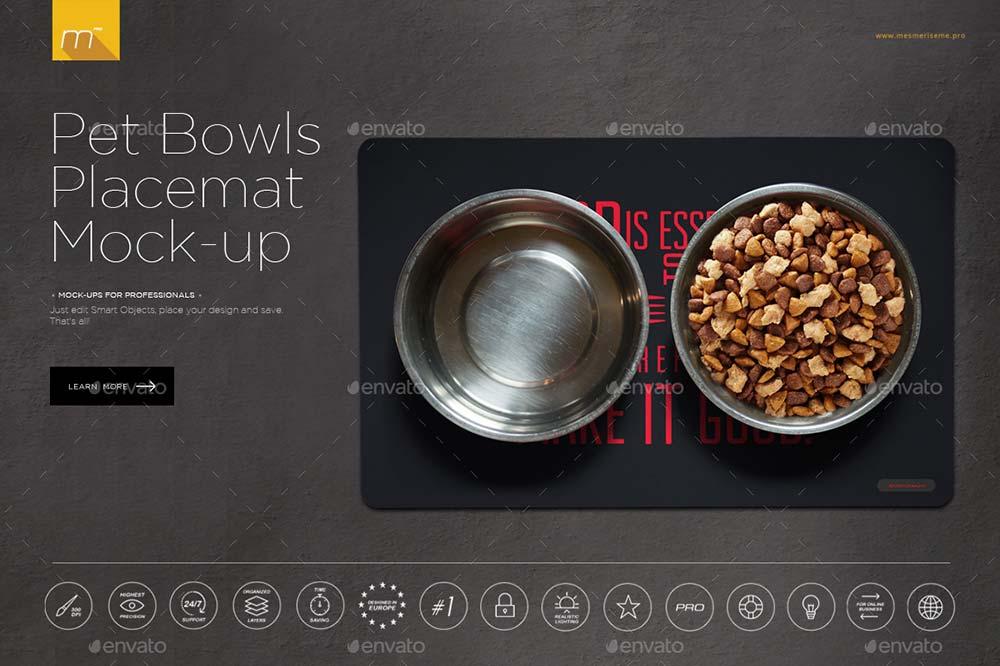Pet Bowls & Plaemat Mock-up