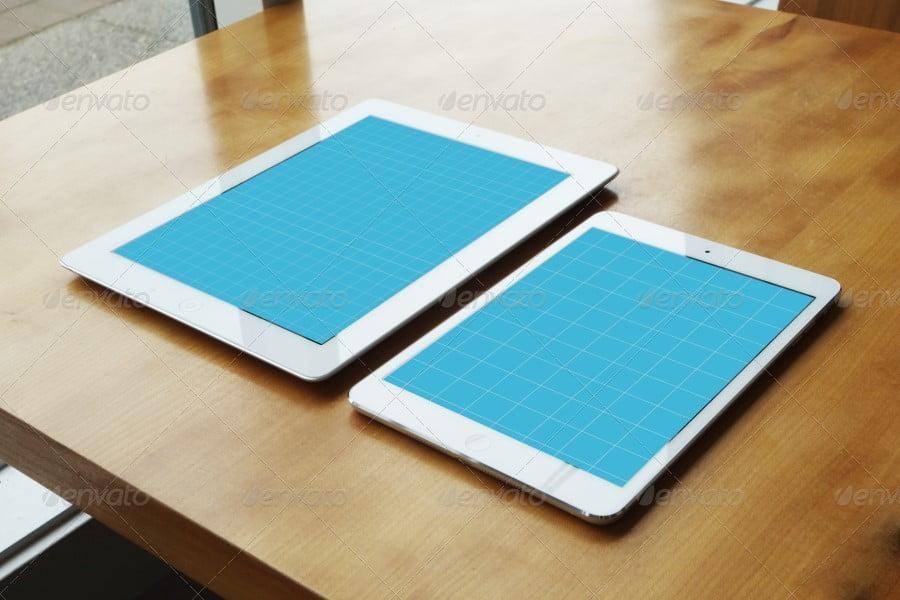 12 Realistic Tablet Mockups