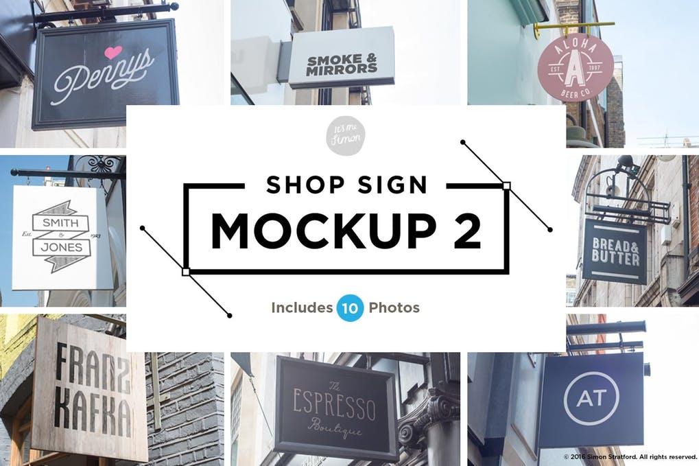 Shop sign mockups