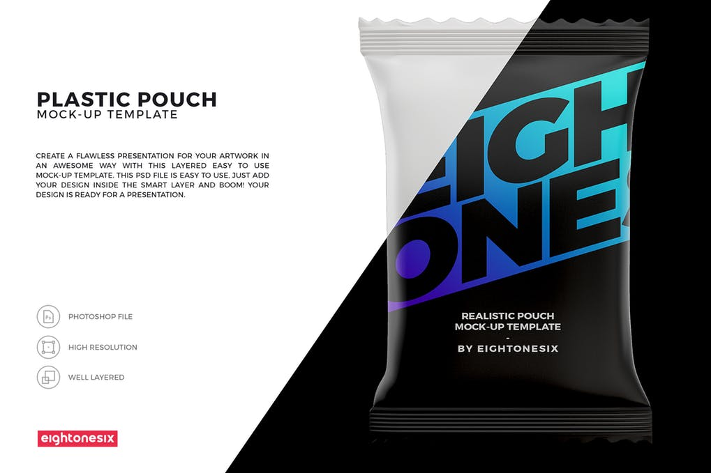 Snack Pouch Mock-Up Template