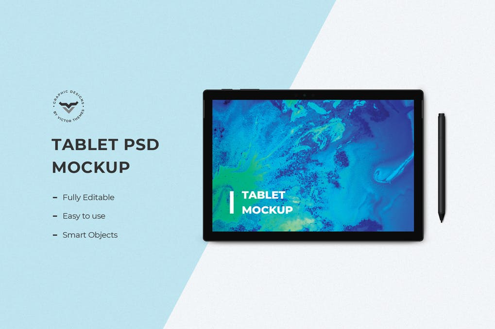 Tablet Mockups with Pen