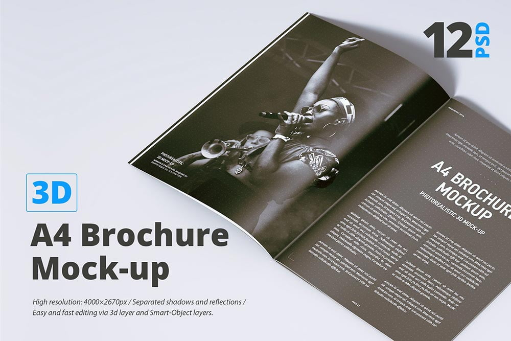 A4 Brochure Mock-up