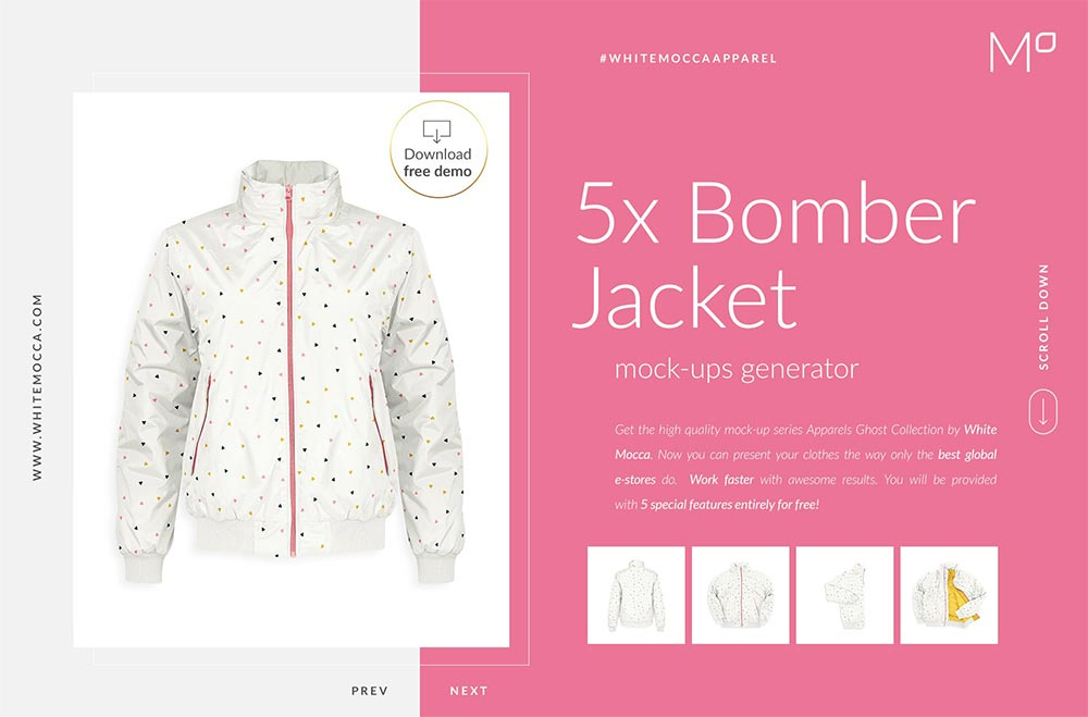 Bomber Jacket Ghost Mockups Set FREE