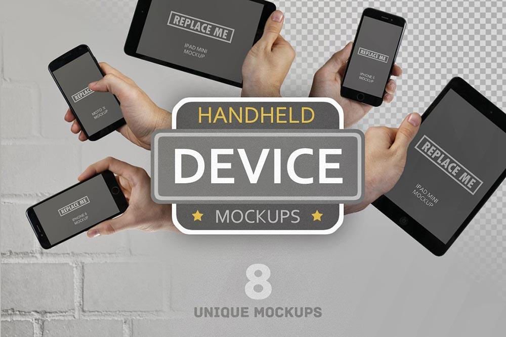 Handheld Device Mockups