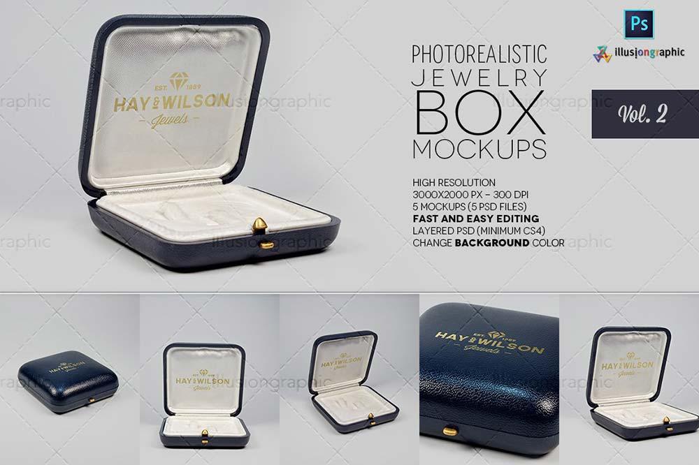 Jewelry Box Mockups