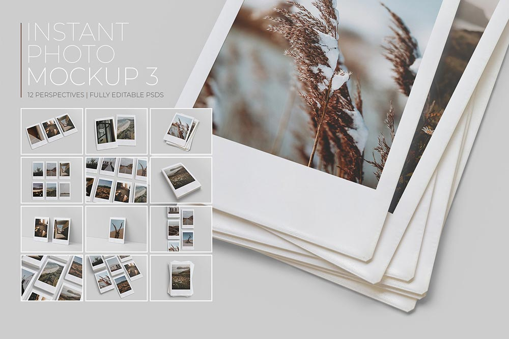 Polaroid Collection Mockup