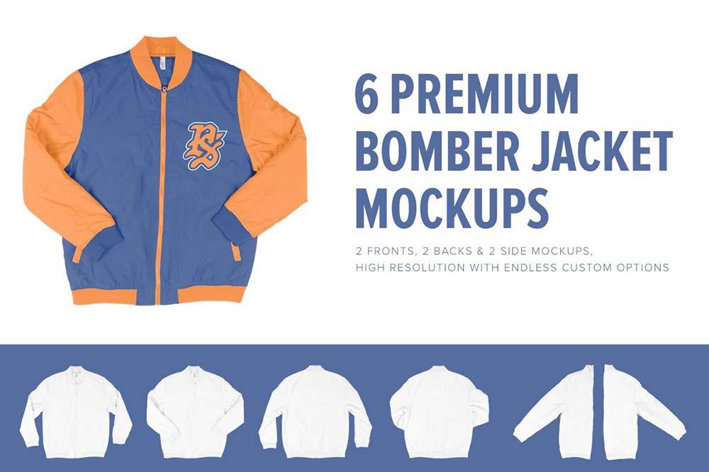 6 Premium Letterman Jacket Mockups