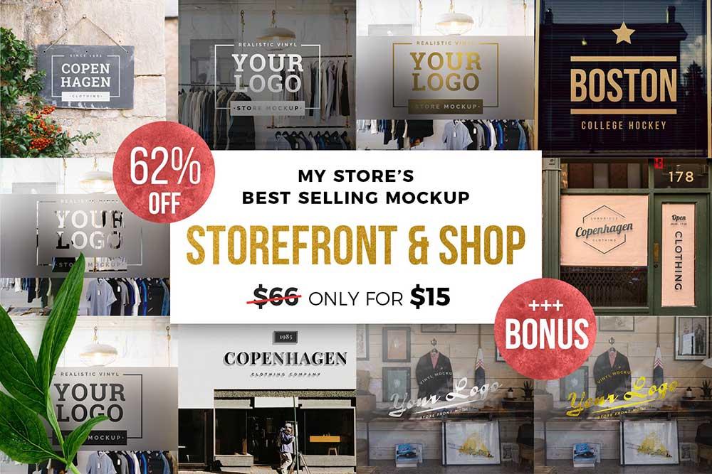 Storefront/Shop Mockup Bundle