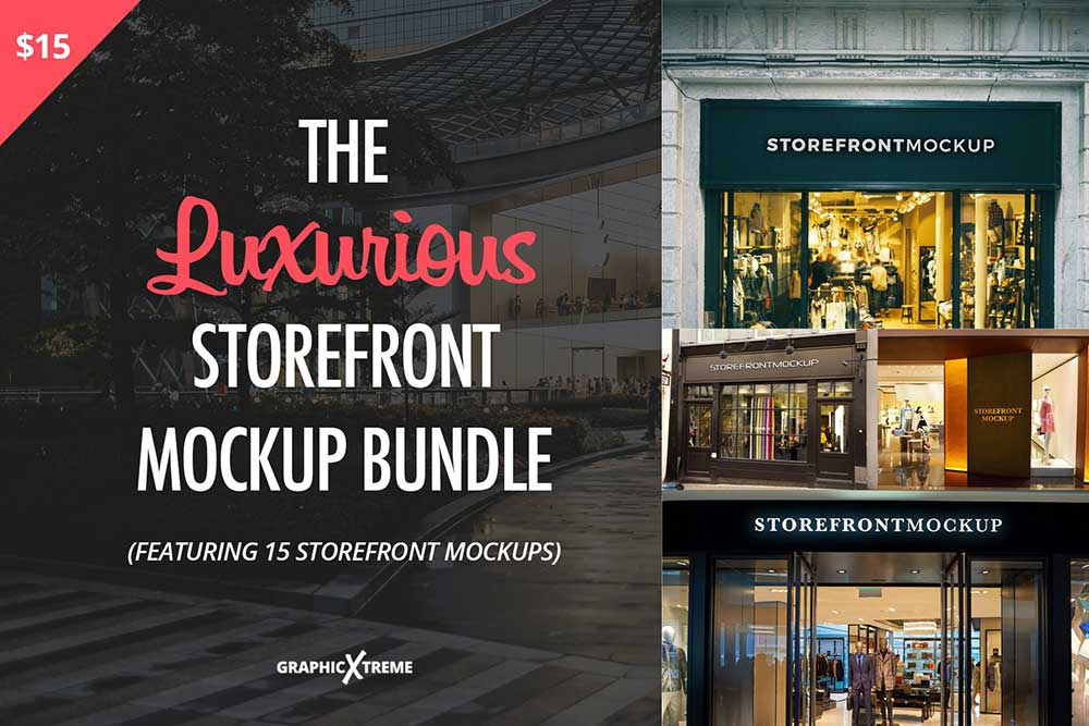 The Luxurious Storefront Mockup Pack