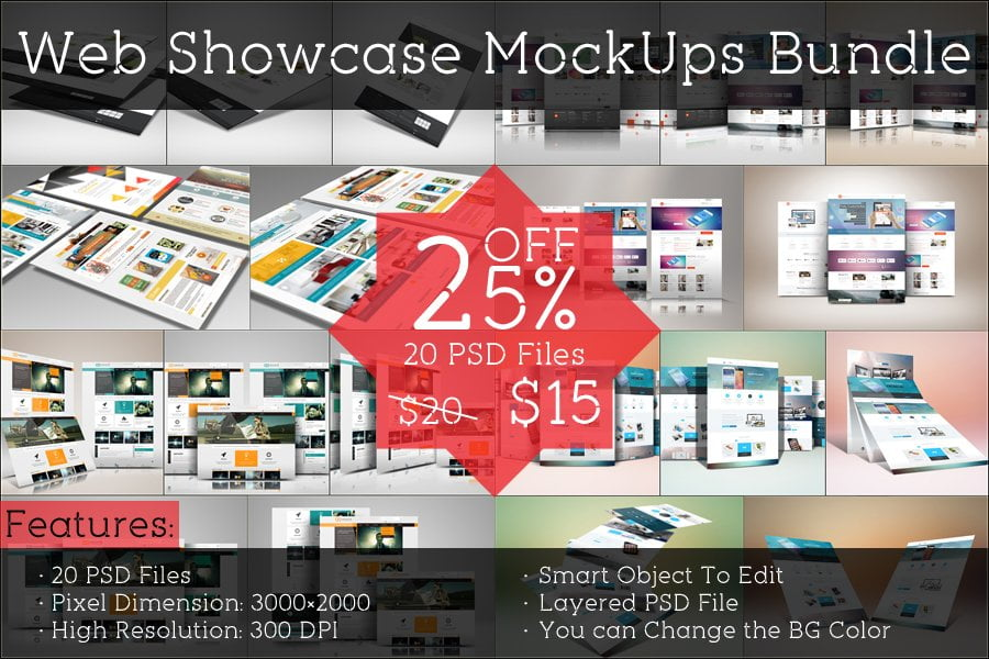 Web Showcase MockUps Bundle
