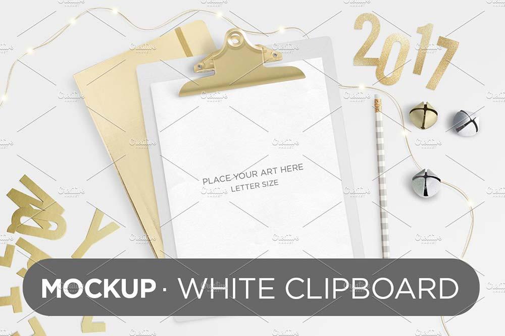 White Clipboard Mockup