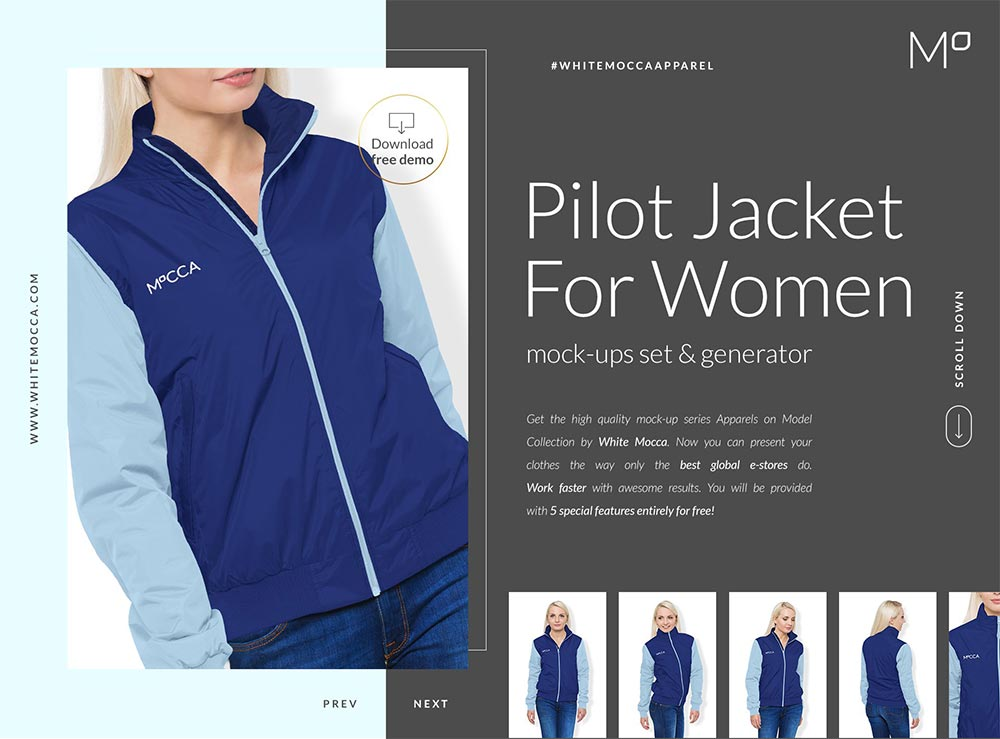 Women Bomber Jacket Mock-ups