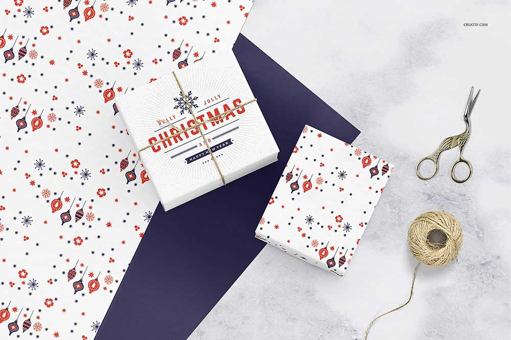 Wrapping Paper Mockup Set